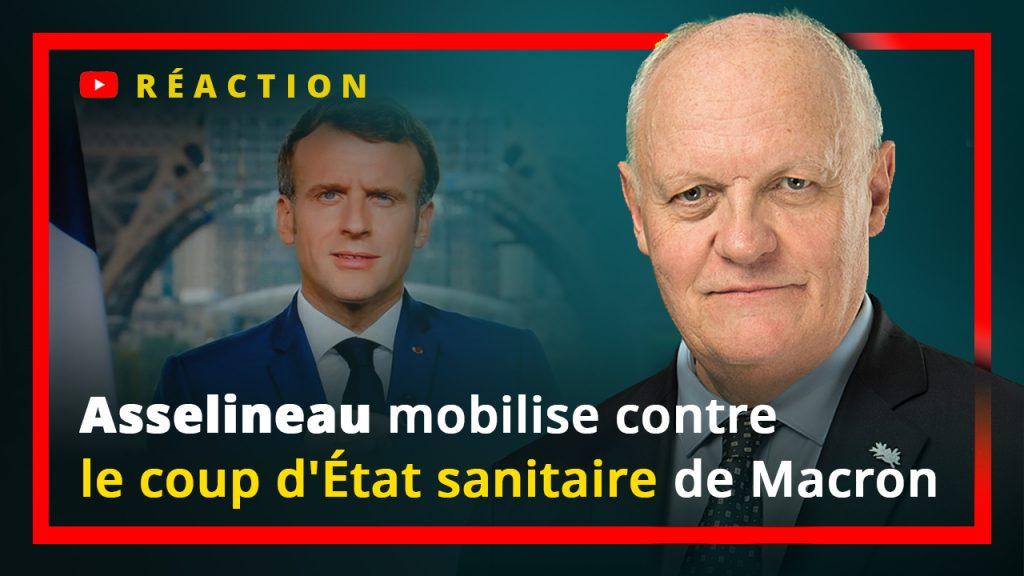 François Asselineau mobilise contre le coup d'État sanitaire de Macron.