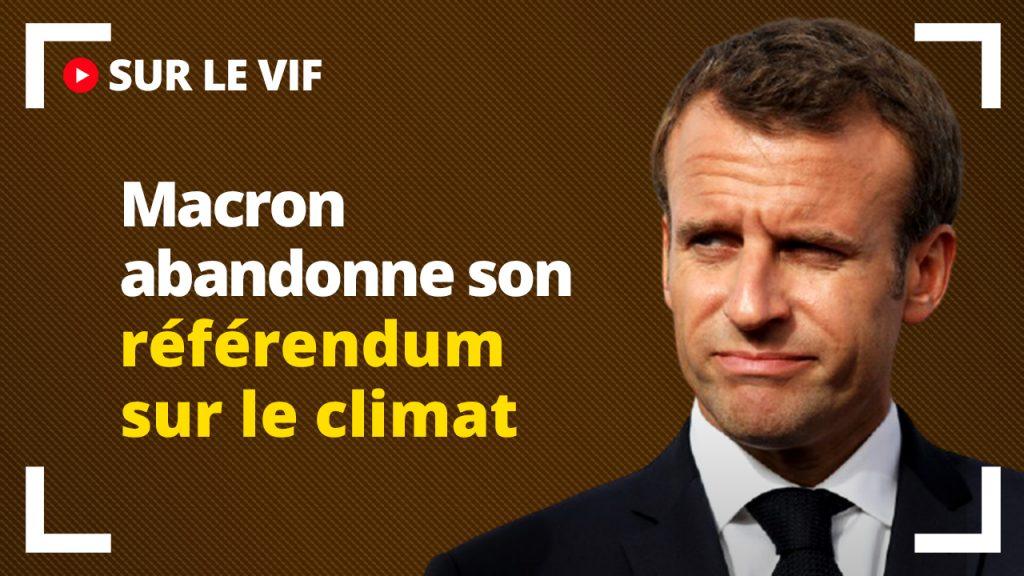 Macron abandonne son référendum sur le Climat