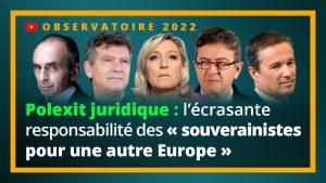 """Polexit juridique : l'écrasante responsabilité des """"souverainistes pour une autre Europe"""""""