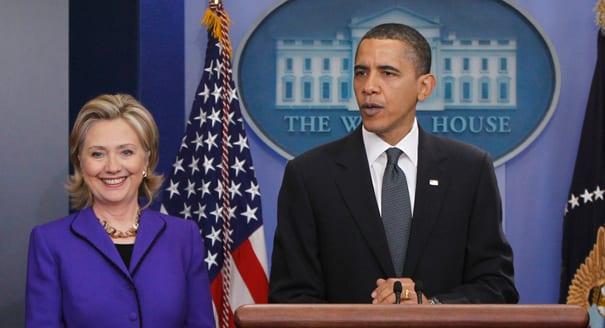 6- Hillary Clinton et Barack Obama