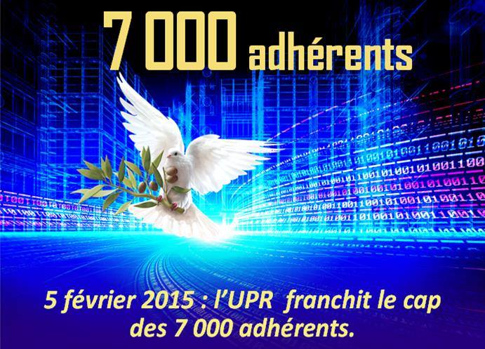 7000 adherents UPR