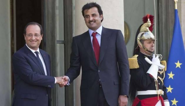 François Hollande accueille le nouvel émir du Qatar le fils du précédent LUPR demande au Gouvernement dexpliquer ce quil sait des liens entre son allié lÉmir du Qatar et les terroristes de lEI