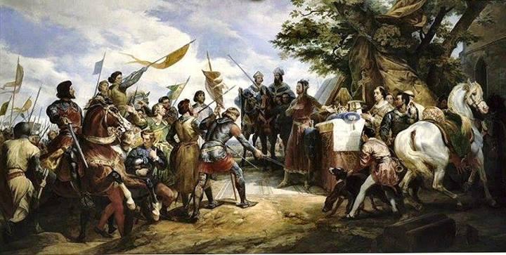 La bataille de Bouvines peint vers 1850, par Horace Vernet