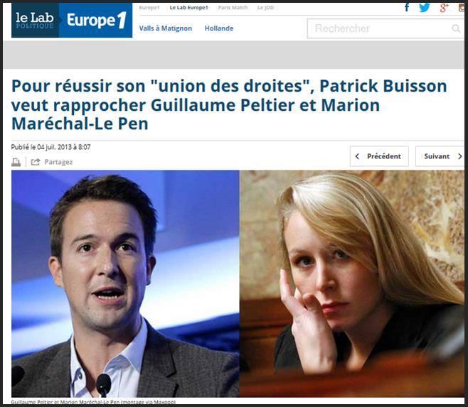 France, Marion Maréchal Le Pen et Guillaume Peltier