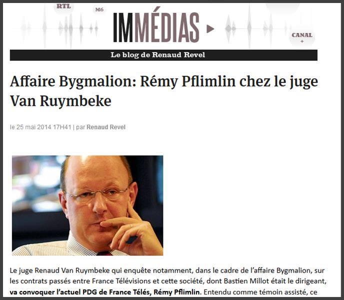 France, Affaire Bygmalion: Rémy Pflimlin chez le juge Van Ruymbeke
