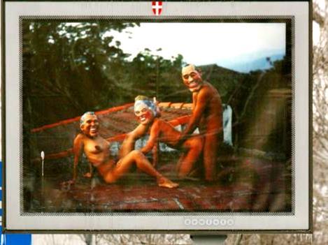 UE PORNOGRAPHIE Panneau pornographique 1 pour présidence autrichienne de 2006 Avec l'invention grotesque de « Captain Europe », la propagande européiste prouve qu'elle est aux abois