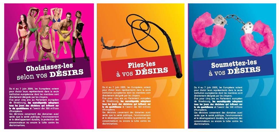 UE - PORNOGRAPHIE - campagne pour les européennes 2009