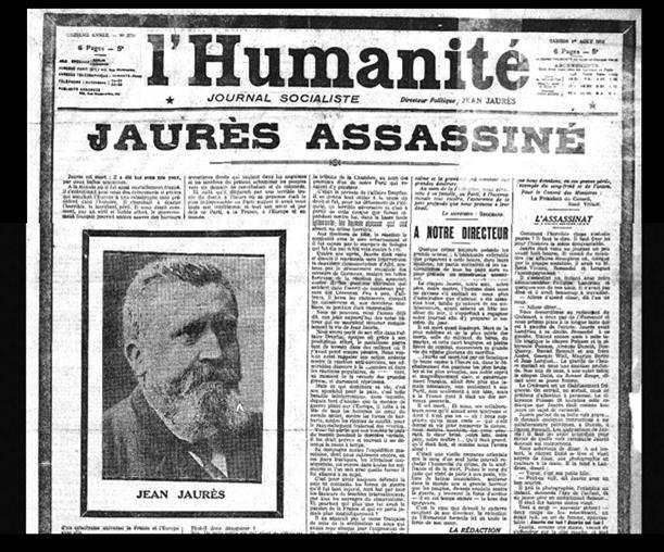 assassinat de Jean Jaurès 100 ans plus tard, les dirigeants français assassinent une deuxième fois Jean Jaurès