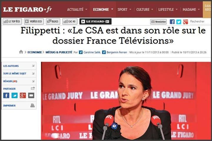 France, bygmalion filippetti CSA