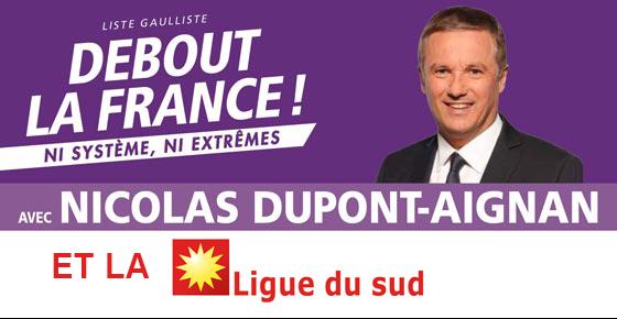 Dupont-Aignan et DLF font alliance avec l'extrême-droite