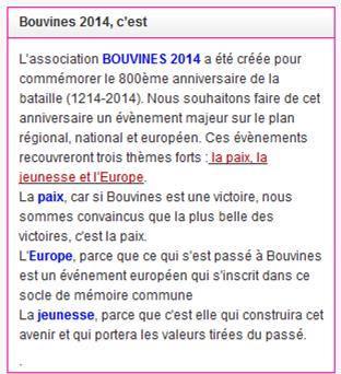 la bataille de Bouvines 2014