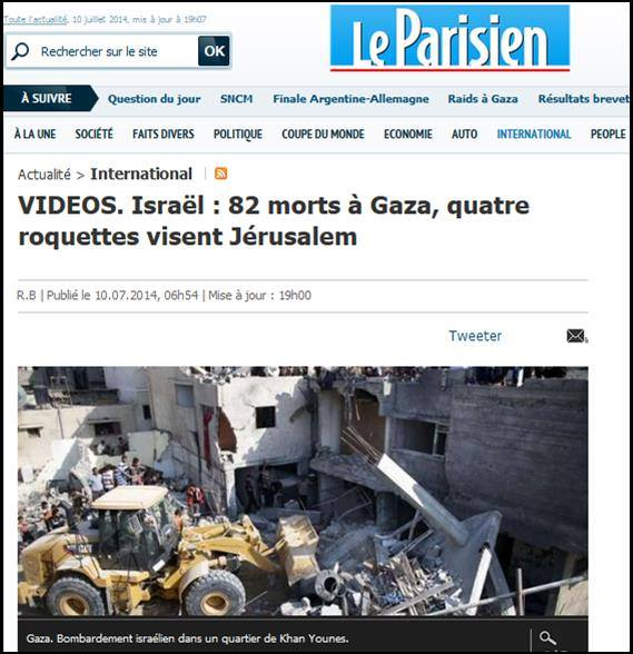 le-parisien-israel-82-morts-a-gaza-quatre-roquette-visent-jerusalem