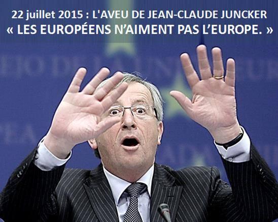 les europeens naiment pas leurope juncker