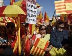 manifestation du 12 octobre 2014 à Barcelone contre l'indépendance de la région