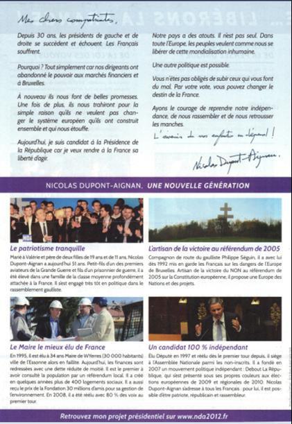 profession de foi de M. Dupont-Aignan 4