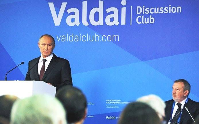 vladimir poutine à sotchi devant le club valdaï Les enseignements du très important discours de Vladimir Poutine à Sotchi